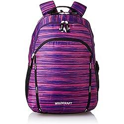 Wildcraft Polyester 38 Ltrs Purple School Backpack (WC 2 Vistas 2)
