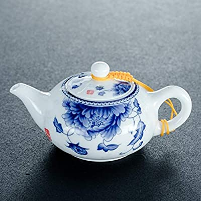 sdbey Jingdezhen théière en Porcelaine Bleue et Blanche en céramique Chinois rétro Machine à thé Petit Pot Unique Maison thé Kung fu Ensemble