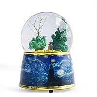 Preisvergleich für Baby-lustiges Spielzeug Van Gogh Kreative Kristallkugel Spieluhr Harz Handwerk Ornamente Für Geburtstagsgeschenk-Liebhaber