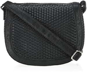 Ara Kensington Flap Bag 4160000123, Damen Umhängetaschen, Schwarz (black 900), 25x21x8 cm (B x H x T)