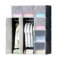 Cubic Closet, Black - H 147 cm x W 111 cm x D 47 cm