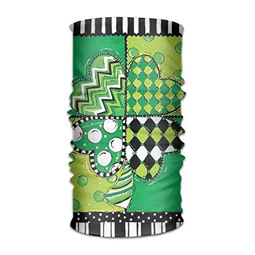 St. Patricks Day Lucky Clove Headwear For Men And Women-Yoga Sports Travel Workout Wide Headbands,Neck Gaiter,Bandana,Helmet Liner,Balaclava