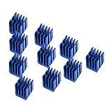 Richer-R 3D Drucker Kühlkörper, 10stücke Aluminium Schrittmotortreiber Kühlkörper Set,langlebig...