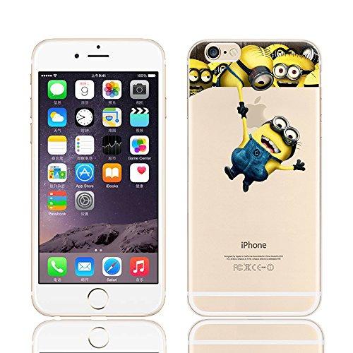 Coque souple pour Apple iPhone 4/4S, 5/5S/SE, 5C, 6/6S et 6Plus Motif Minion, plastique, MINIONS 2, Apple iPhone 5/5s