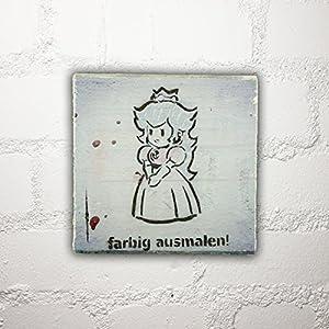 Hamburg auf Holz - *farbig ausmalen* - 10x10 cm - Holzbild, Wandbild, Landhausstil, Shabby Chic, Vintage, Bilder, Motive, Hamburg, Geschenkidee, Souvenir, Deko