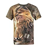 Star Wars Jungen Force Awakens Chewbacca Sublimation T-Shirt (Jahre (9/10)) (Braun)