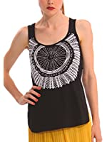 Desigual Women's Vest Top Black Black