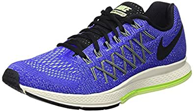 Nike Men's Air Zoom Pegasus 32 Racer Blue, Black and White Running Shoes -7 UK/India (41 EU)(8 US)