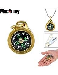 mecarmy CMP Pentagon Wasserdicht Wandern Military Navigation EDC Kompass, konzipiert für den täglichen Carry, mit Kette + thenines USB Lichter