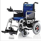 Fauteuil roulant électrique pliant intelligent pour les personnes âgées handicapés grimper escalade sans fonction de glissement fauteuil roulant (commutable manuel/automatique) quatre couleurs,Blue
