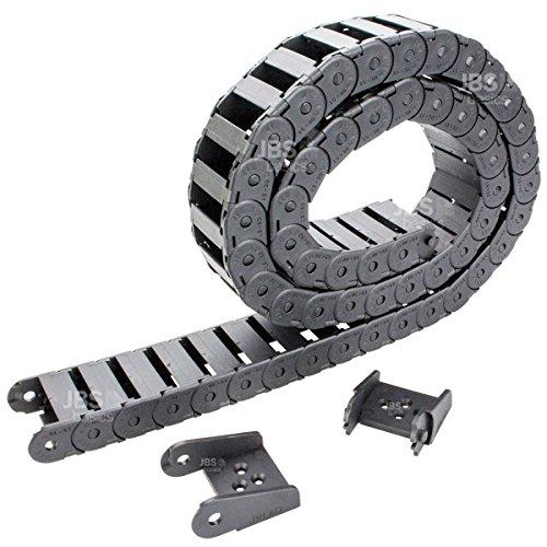 [ JBS basics ] Energiekette Schleppkette Kabelführung [ 10x10 / 10x20 / 15x30 / 15x40 ] R28 CNC 3D Drucker [ 100 cm / 1 Meter ] Plastik Drag Chain incl. Endstücke 10mm 15mm 30mm 45mm (15x30 mm)