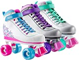 SFR VISION II PLUS Kinder Rollschuh 2017 Rollerskates Skates Mädchen Frauen Rollen Inliner pink weiß lila mint silber silver