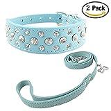 Newtensina Mode Hundehalsband und Blei Set Bling Welpen Halsband Cute Diamante Hundehalsband mit Leinen