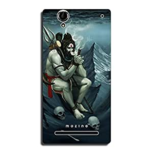 Mozine Shiva On Trance printed mobile back cover for Sony xperia t2