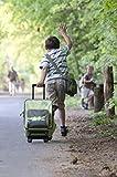 Lässig Trolley Kindertrolley stabil Reisegepäck Kinder Reisekoffer Koffer mit Packriemen, 2-stufig höhenverstellbarem Griff, Reißverschlussfach, vorne separater Schuh-/Wäschebeutel, Crocodile granny - 5