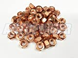50x M8 Copper Flashed Exhaust Manifold 8mm Nut - High Temperature Nuts