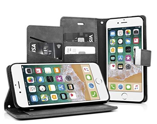 MyGadget Funda Flip Cierre magnético para Apple iPhone 6 6s en cuero sintético PU - Carcasa Tarjetero con 5 bolsillos y soporte plegable anti golpes - GrisCASE TARJETERA TIPO LIBRO - Esta elegante cubierta billeteraesta desarrollada con un estilo se...