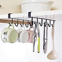 Hysagtek 2 pcs taza taza taza de soporte de estante armario colgador 6  ganchos toalla percha 218082ab5eb3