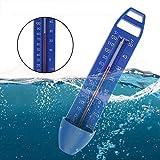 TOMATION Pool Thermometer, schwimmendes Premium-Wasserthermometer, integriertes Pocket Shatter Resistant für Schwimmbäder, Spas, Whirlpools, Fische und Teiche