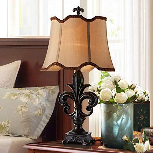 YXZQ Lampe, Tischlampen Leinenschirm Tischlampen Für Schlafzimmer Kommoden Buffets Schreibtischlampe (Farbe: A, Größe: 74 * 41 cm) -