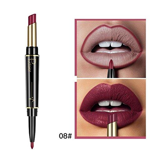 vobome Lip Liner Pencil, 1 Pc Natürliche Doppelseitige Drehen Dauerhafte Matte Wasserdichte Lip...