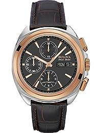 Reloj Automático Bulova para Hombre con Negro Cronógrafo Y Marrón ... 96c141e93d69