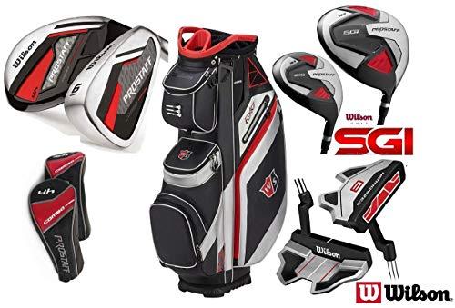 Wilson Combo Hybrid HDX Golf Komplett Set alle graphit Schäfte & Nexus 2017Cartbag, 1HDX 460cc Driver & HDX 3Fairway Holz. 3& 4Combo-Hybriden, 6-Sand Wedge Combo-Eisen (Eisen ist ausgestattet mit Graphit Schäfte) & harmainized CB Golf Putter. -
