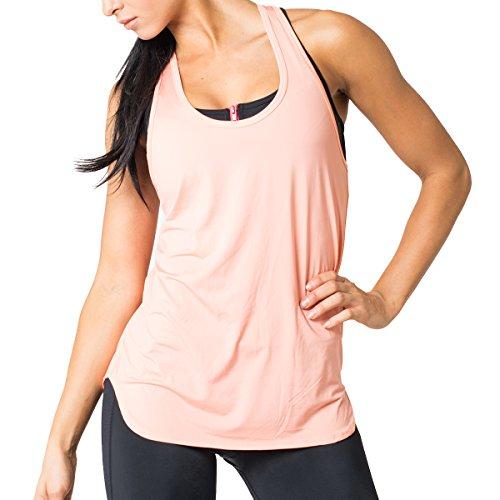 Femmes Goutte Mindfulness Americano dos nageur Orange - Orange - Flamingo