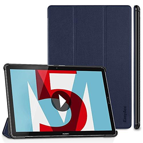 EasyAcc Huawei Mediapad M5 10.8/10.8 Pro Hülle, Ultra Schlank Schutzhülle Case mit Zwei Einstellbarem Standfunktion für Huawei Mediapad M5 10.8 Zoll 2018, Dunkelblau