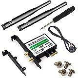 ZYX Desktop Wireless Network M.2(NGFF) Wireless Card to PCI-e 1X Adapter Intel NGFF M.2 7260 8260 3160 ect
