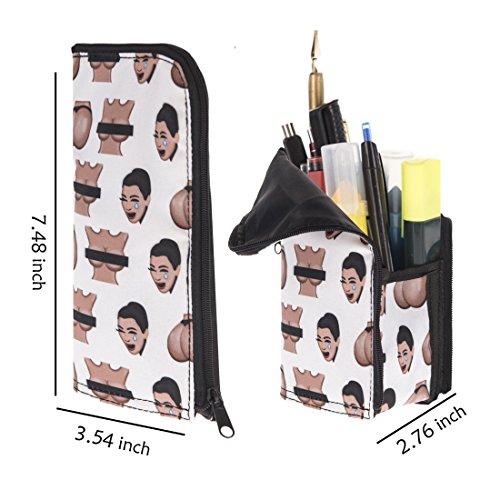Preisvergleich Produktbild Emoji-kimojis Vertikal Pen Bleistift Case Kosmetiktasche Münzfach Tasche Bürstenhalter, Organizer