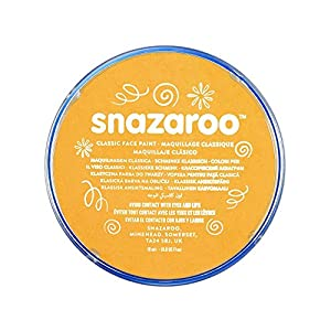 Snazaroo - Pintura facial y corporal, 18 ml, color amarillo ocre