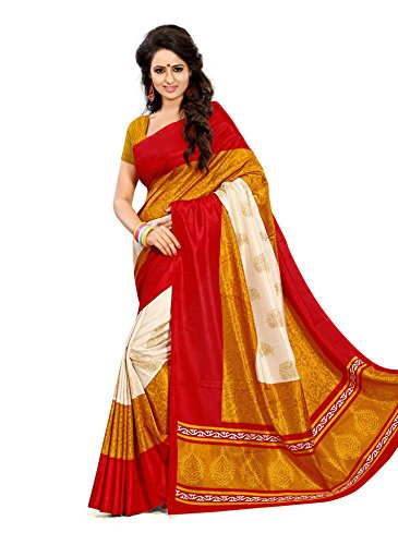Design Willa Women\'s Art Silk Saree (Dw5630_Red)
