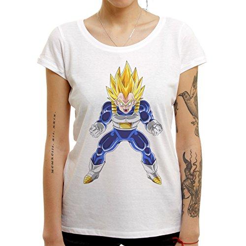Dragon Ball Z Vegeta Super Sayan Quality XL Donne T-Shirt