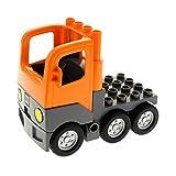 Bausteine gebraucht 1 x Lego Duplo LKW orange dunkel grau Chassis mit Kabine Laster Auto Unterbau für Set Bau Fahrzeug 3772 4228456 1326c01 4255270 48125c03