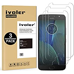 iVoler [3 Unidades] Protector de Pantalla para Motorola Moto G5S Plus, Cristal Vidrio Templado Premium