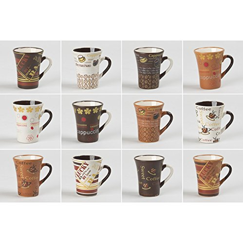 TABLE PASSION - TASSE CAFE 8 CL COLLECTOR ASSORTIES (LOT DE 6)