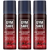 Gym Safe Gym Equipment Sanitizer Spray - 40 ml (Pack of 3)