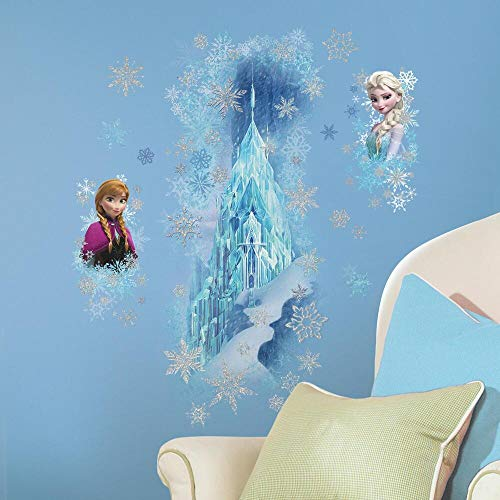 RoomMates RM - Disney Frozen Eispalast glitzernd Wandtattoo, PVC, bunt, 48 x 13 x 2.5 cm