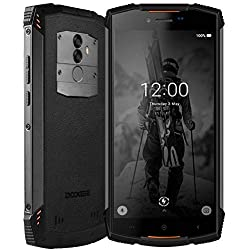 Rugged Smartphone in Offerta 4G, DOOGEE S55-2019 Dual SIM Cellulare Resistenti Outdoor 4+64GB Android 8.1 Batteria 5500mAh Impermeabile IP68 Antipolvere Antiurto GPS/NFC/Fingerprint/WIFI/FaceID-Orange