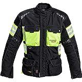 Reusch Motorrad-Jacke Motorrad Schutz-Jacke Touren Leder-/Textiljacke 1.0 neon-gelb XL