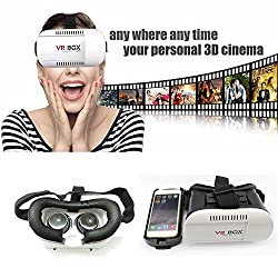 HARSHEEN SALES VR BOX 2.0 Virtual Reality GlassesVirtual Reality Headset Version 2.0 VR Headsets for 4.76 Inch Screen Phones iphone 4S, iphone 5s, IPhone 6 / 6 S , Samsung LG Sony HTC, Nexus 6,Oneplus Moto etc - Inspired by Google Cardboard, Oculus Rift and Samsung Gear 2016