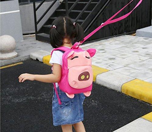 Ohmais Kinder Mädchen Junge Unisex Rucksack Schule Grundschule Kindergarten Zeichnung pink