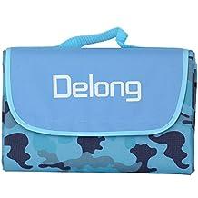 Delong - PB-02 - Manta de picnic extra grande con bolsa impermeable de 78 x 57 cm, camouflage