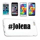 Handyhülle Samsung S8+ Plus Galaxy Hashtag #Jolena im Social Network Design Hardcase Schutzhülle Handycover Smart Cover für Samsung Galaxy Smartphone in Weiß Schlank und schön, das ist unser HardCase