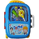 Vibgyor Vibes Pretend Play Doctor Set for Kids Medical Kit in A Trolley Suitcase with Light and Sound Effects