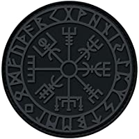 2AFTER1 ACU Subdued Vegvisir Viking Compass Norse Rune Morale Tactical PVC Rubber Fastener Patch