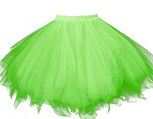 HotQueen Women's 1950s Vintage Tutu Ballet Half Slip Skirt Bubble Dance