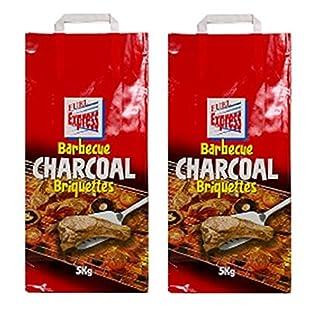 2 x 5KG Bags Of Fuel Express BBQ Barbecue Charcoal Briquettes