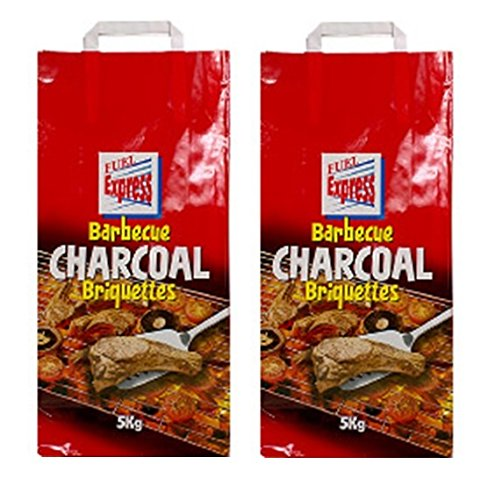 2 x 5KG Bags Of Fuel Express BBQ Barbecue Charcoal Briquettes